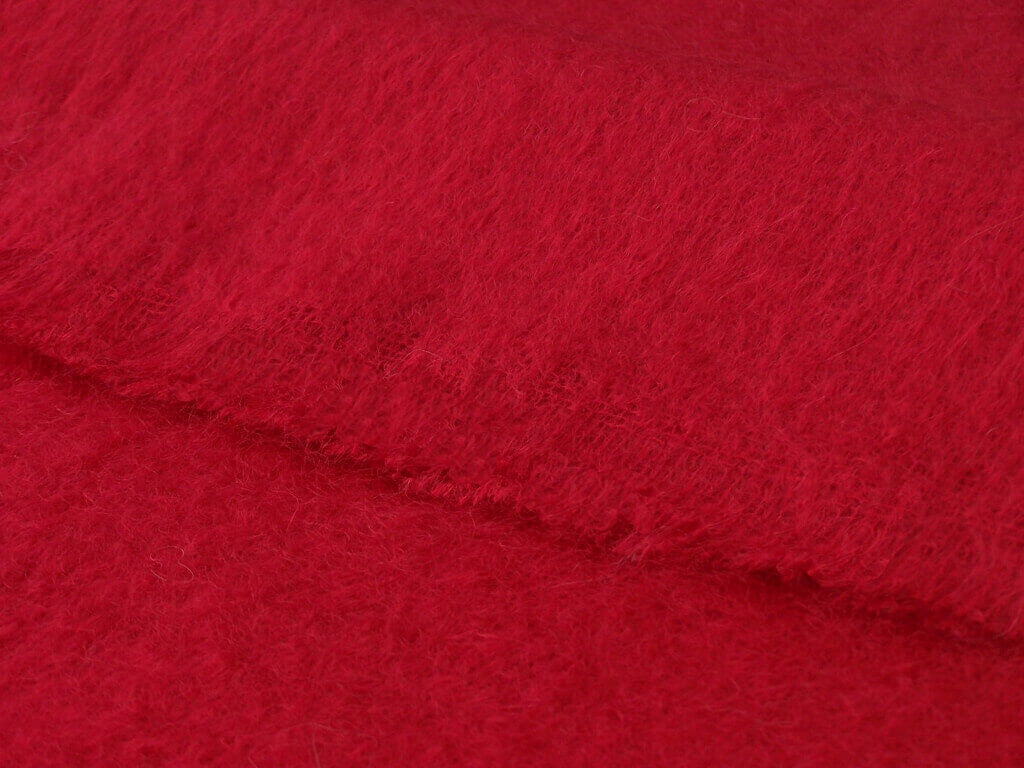 Luxury Mohair Berry Red Throw