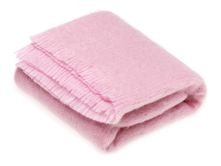 Luxury Mohair Rose Lavender Throw