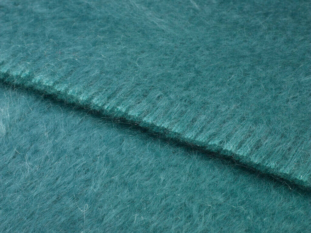 Luxury Mohair Tropic Jade Throw