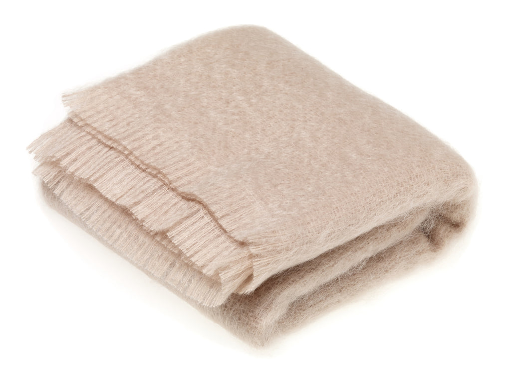 Luxury Mohair Vanilla Throw Blanket