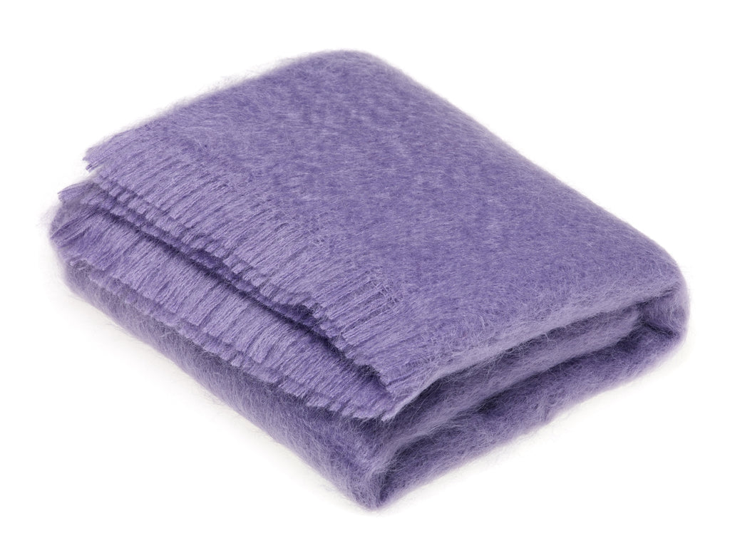 Luxury Mohair Throw Blanket Cloud Violet