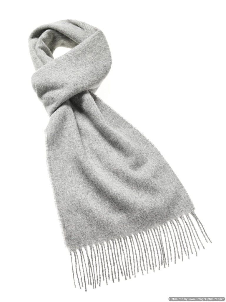 Luxury Plain Silver Scarf