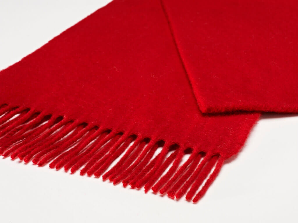 Luxury Plain Scarlet Scarf