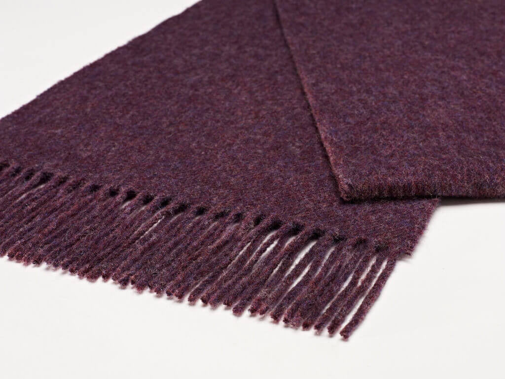 Luxury Plain Purple Heather Scarf