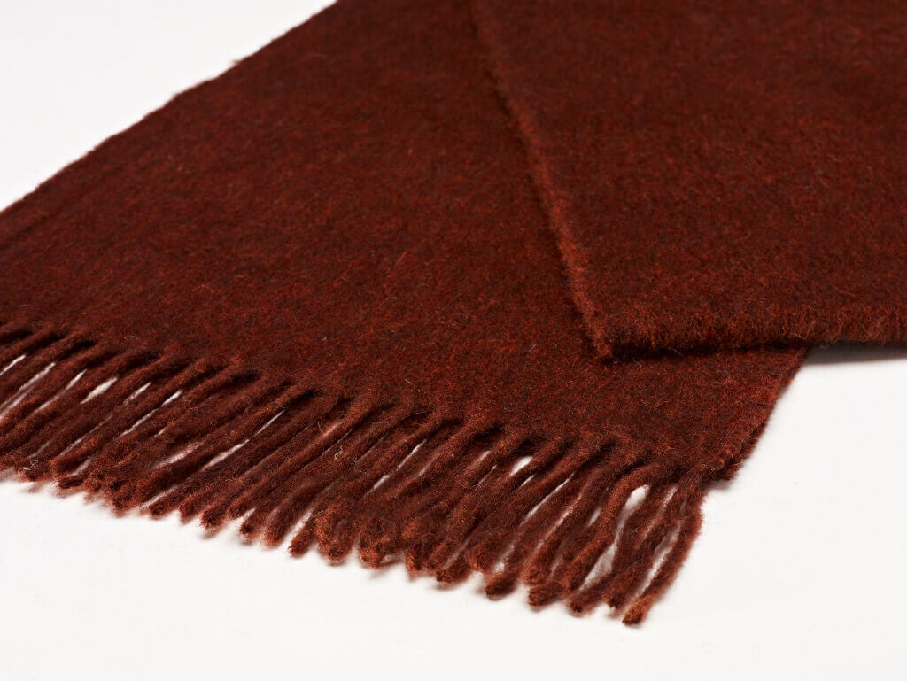 Luxury Plain Dark Rust Scarf