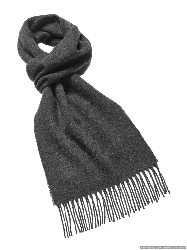 Luxury Plain Dark Moss Scarf