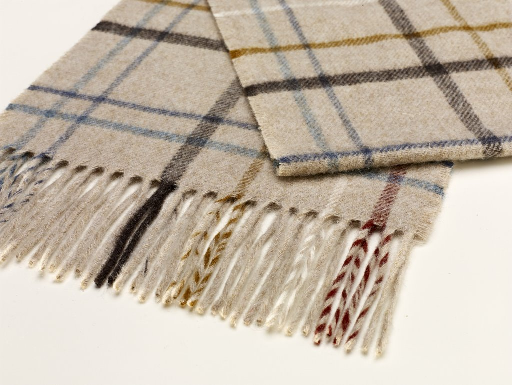 Litton Oatmeal Merino Lambswool Scarf