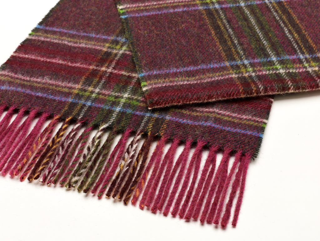 Country Check Deep Pink Scarf
