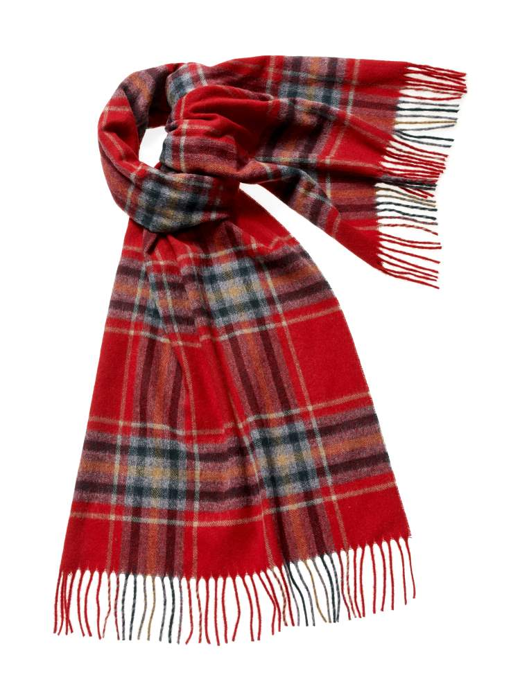 Blanket Scarf - Shawl - Stole - Wrap - Kirkstall - Red