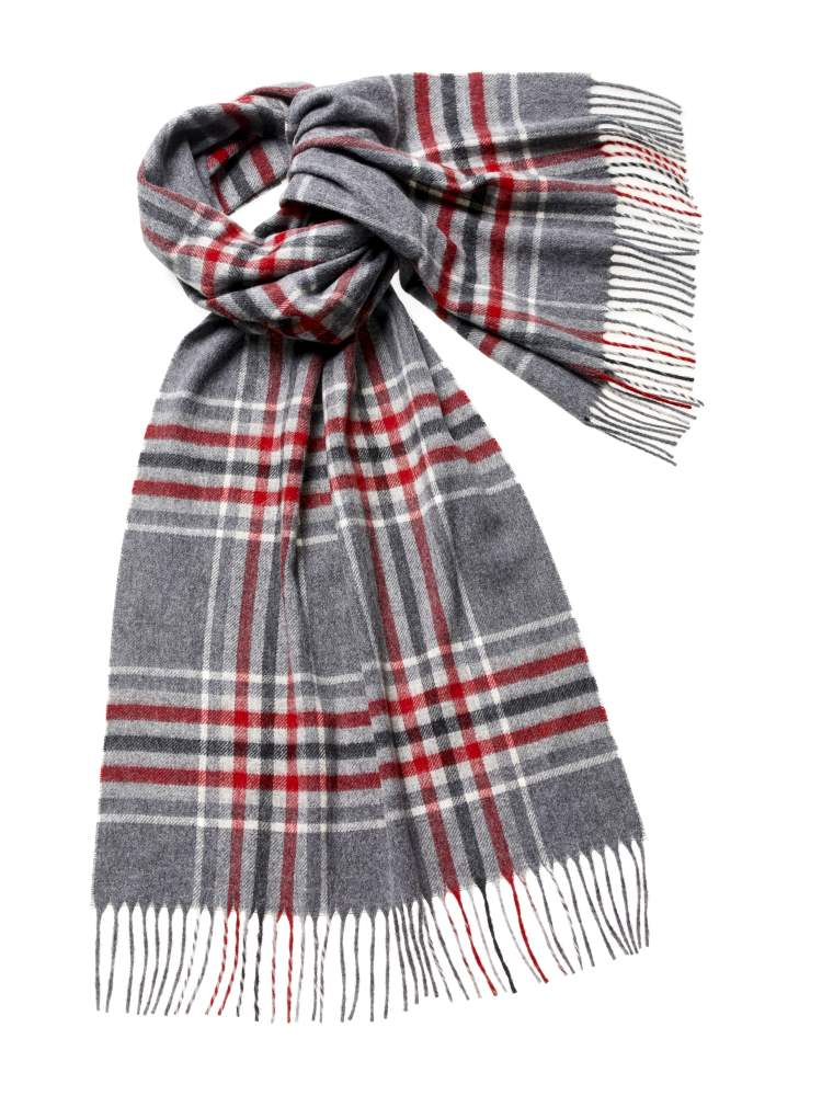 Blanket Scarf - Shawl - Stole - Wrap - Kirkstall - Silver