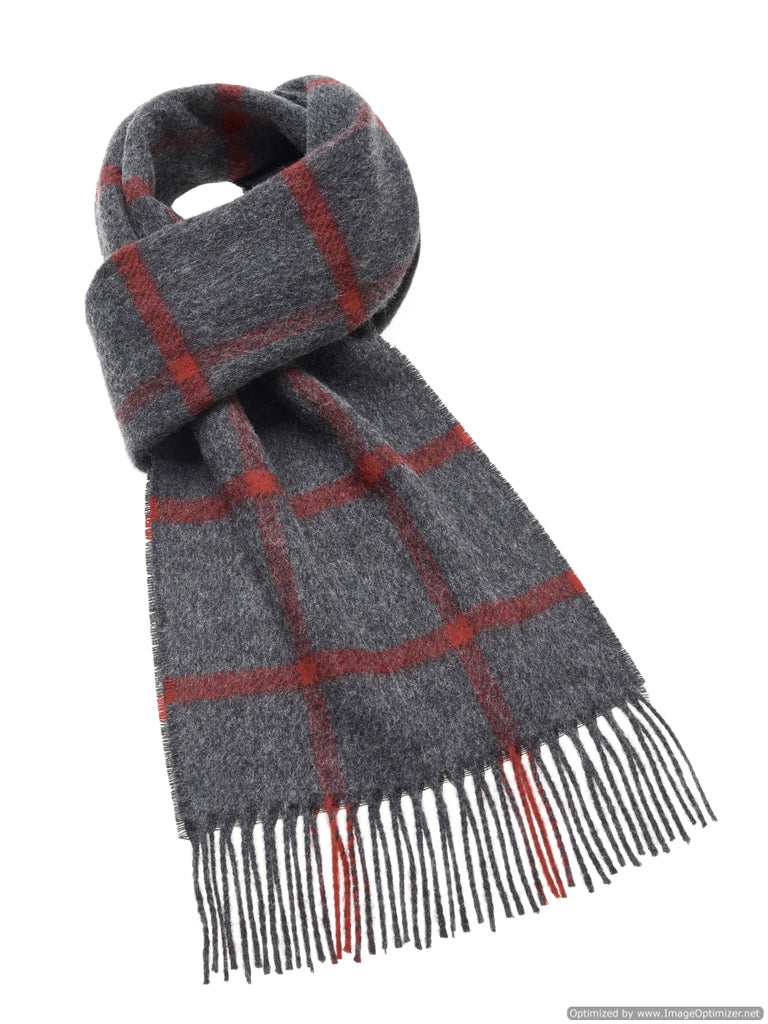 Alwalton Gray/Red Scarf