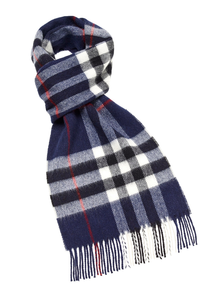Westminster Navy Scarf, Merino Lambswool, Made in England, Bronte Moon
