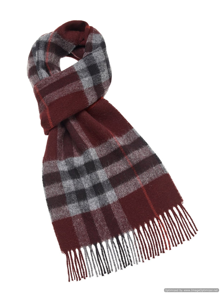 Westminster Burgundy Scarf, Merino Lambswool, Made in England, Bronte Moon