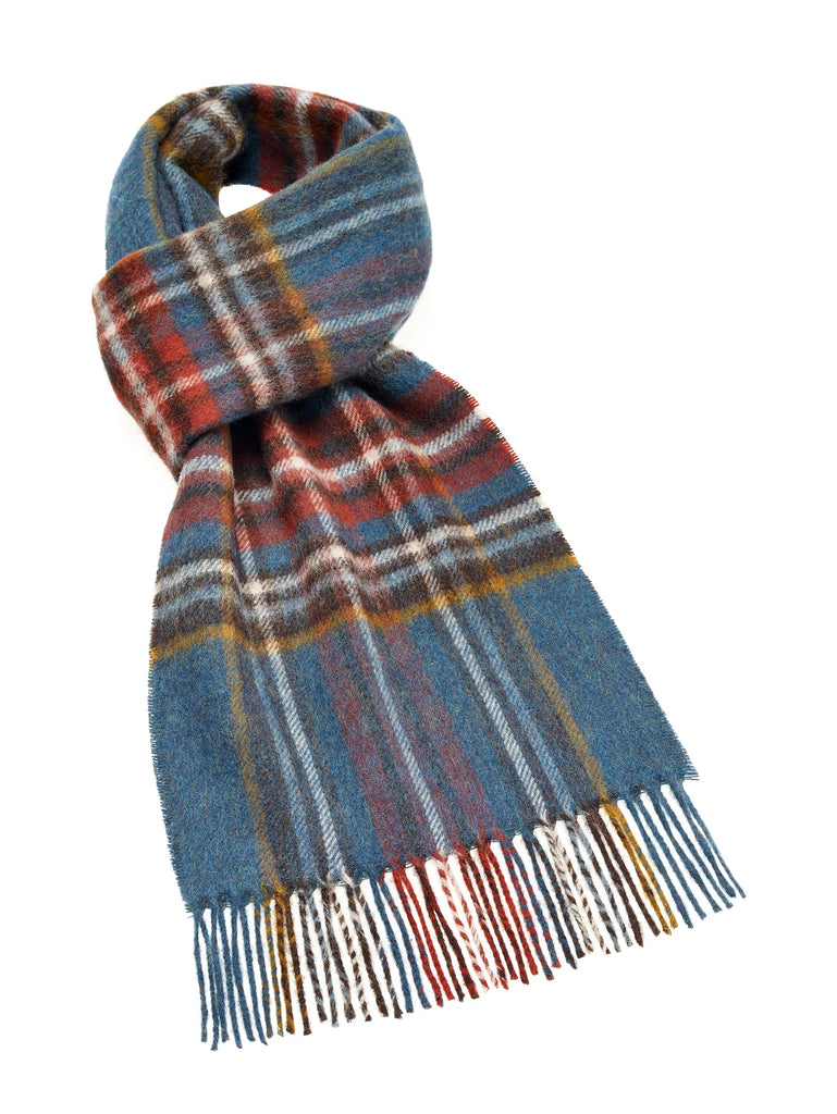 Otley Peacock Scarf, 100% Merino Lambswool, Made in England