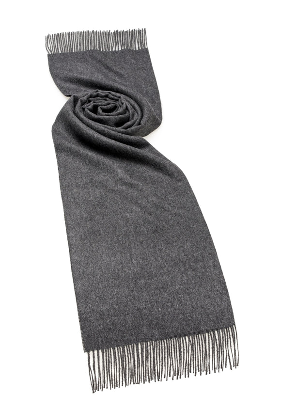 "Alpaca - Blanket Scarf - Stole - 24"" Wide - Charcoal"