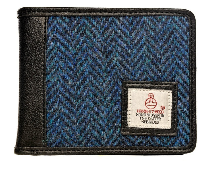 Harris Tweed - Bi-fold Wallet - Navy Blue - Unisex