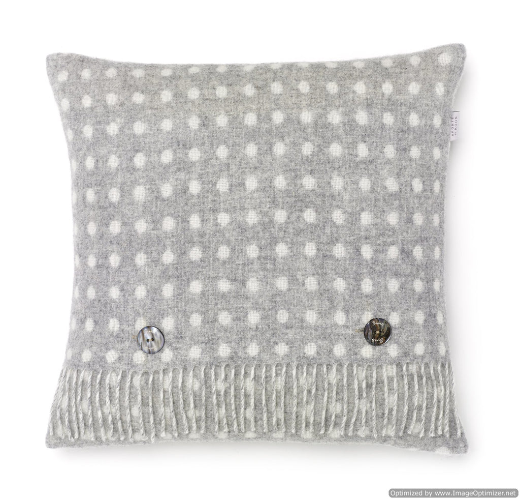 Merino Lambswool - Pillow - Gray Spot