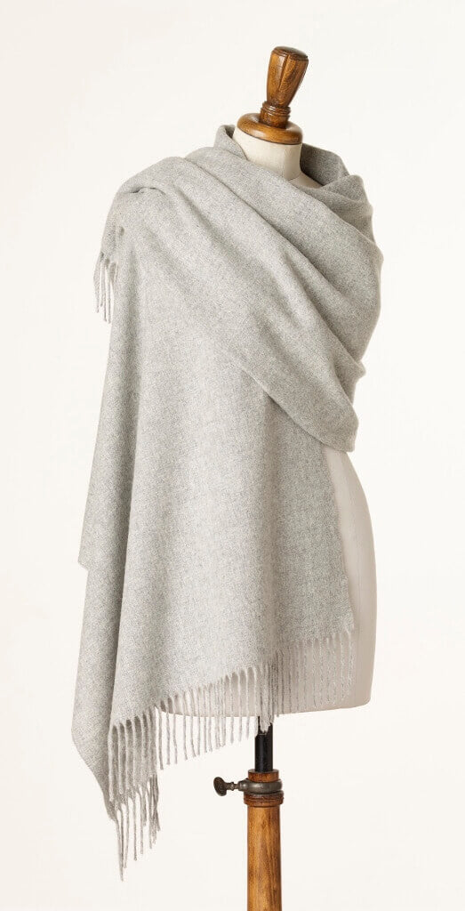 Blanket Scarf - Shawl - Stole - Wrap - Plain Luxury Silver