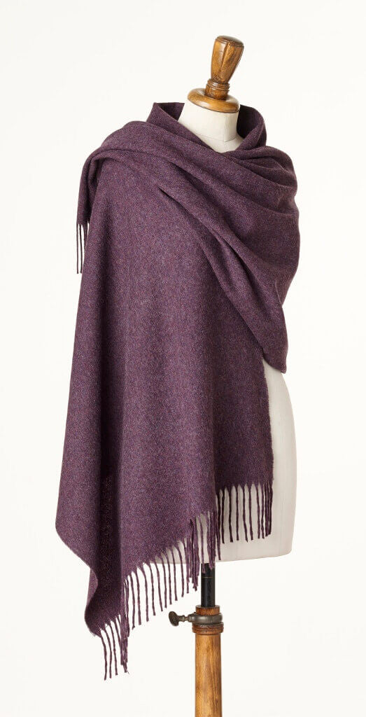 Blanket Scarf - Shawl - Stole - Wrap - Plain Luxury Purple Heather