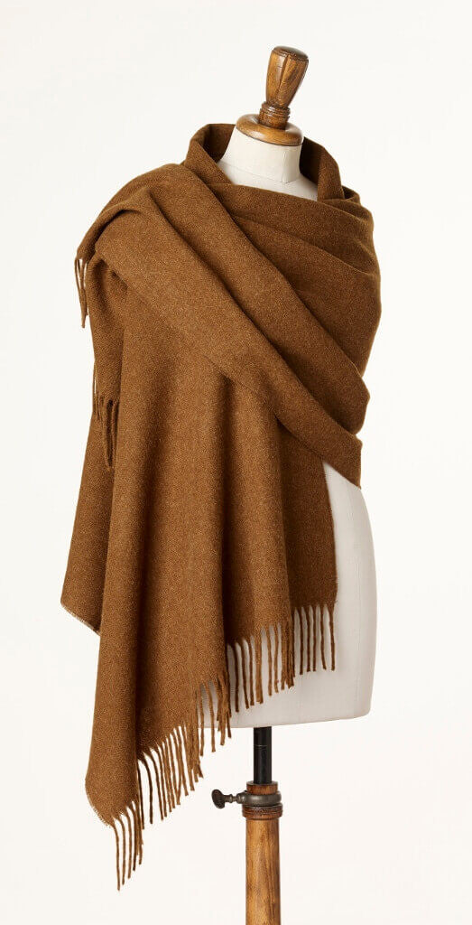 Blanket Scarf - Shawl - Stole - Wrap - Plain Luxury Chocolate