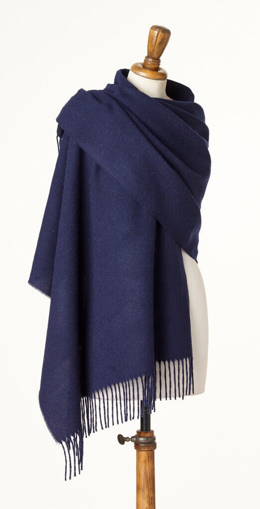 Blanket Scarf - Shawl - Stole - Wrap - Plain Luxury Navy