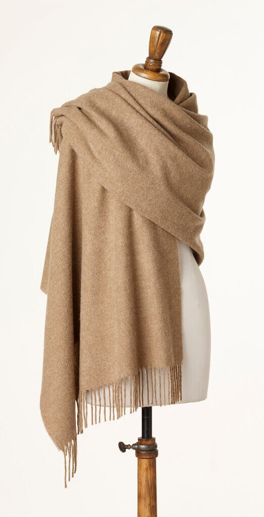 Blanket Scarf - Shawl - Stole - Wrap - Plain Luxury Camel