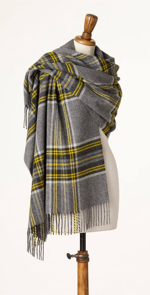 Wrap - Stole - Shawl - Check Filey Gray