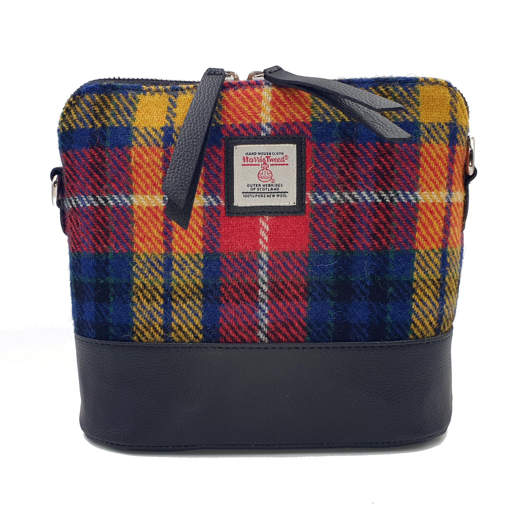Harris Tweed - Square Shoulder Bag - Saffron