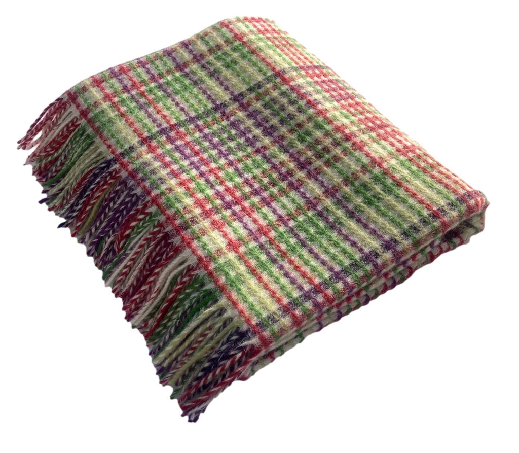 Merino Lambswool, Crossover Stripe Throw, Made in England