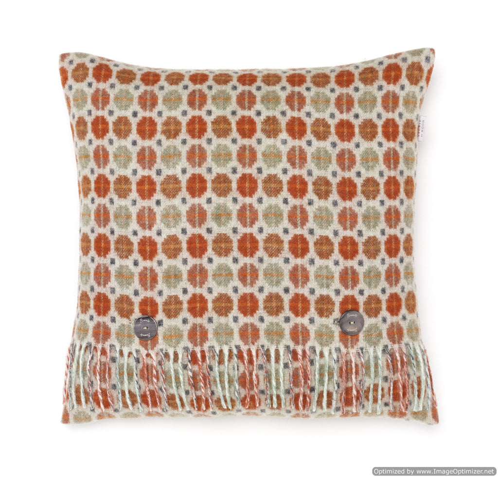 Merino Lambswool - Milan Saffron - Burnt Orange Pillow