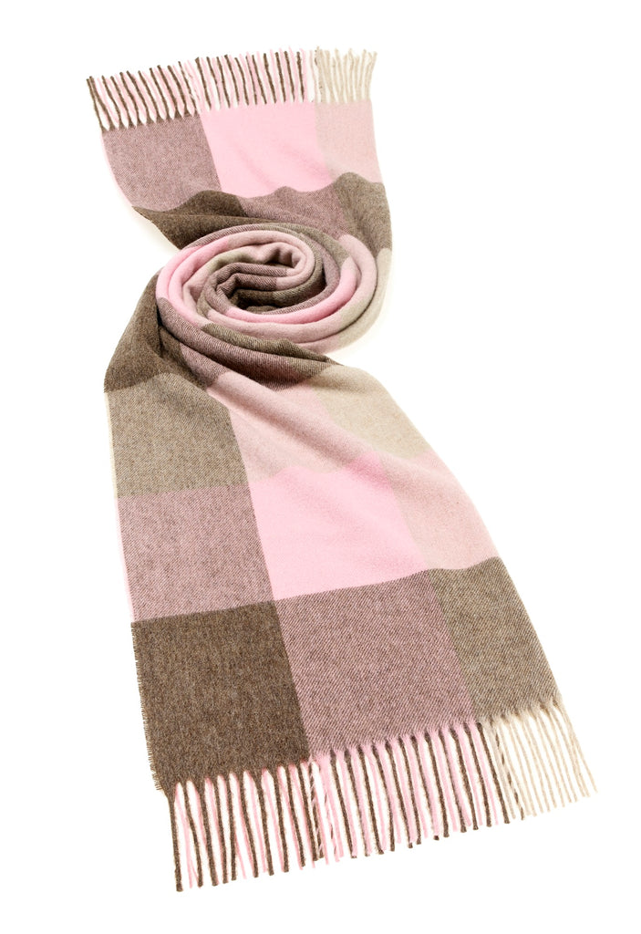 Wrap - Stole - Shawl - Sledmore - Pink/Fawn