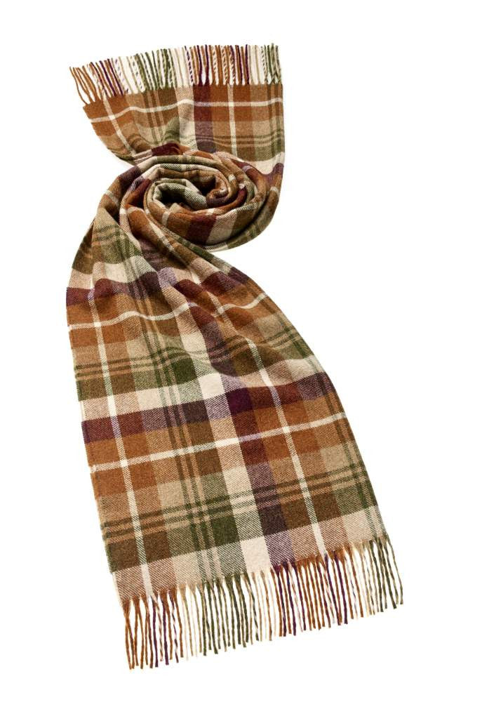 Wrap - Stole - Shawl - Check Easby Tan