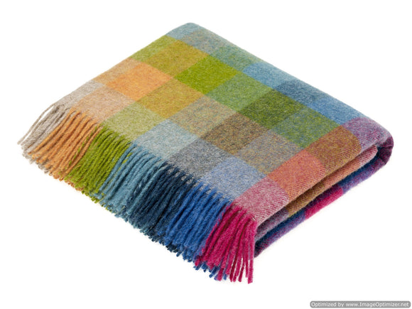 Shetland Quality - Pure New Wool - Harlequin - Tutti Frutti - Throw Blanket