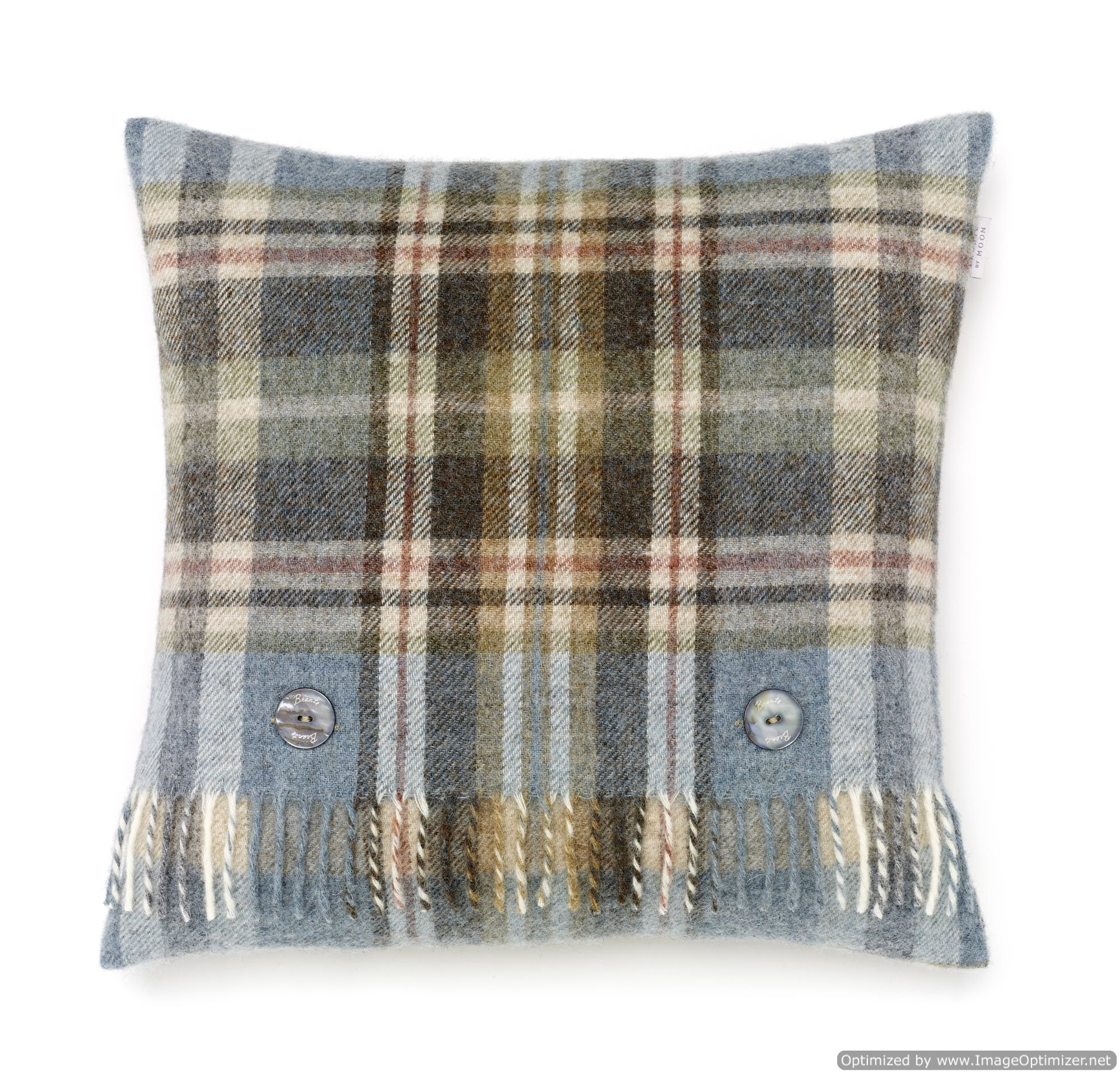 Pure New Wool Glen Coe Aqua Pillow