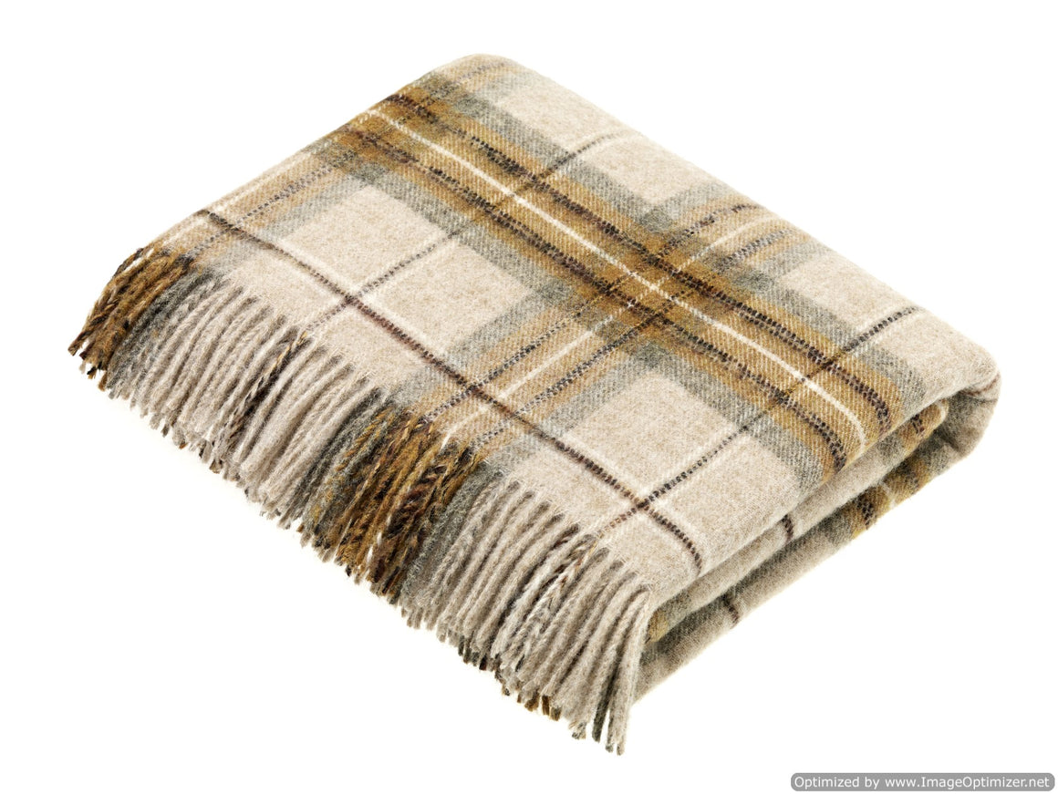National Trust - Montacute - Gold - Shetland Quality - Throw Blanket