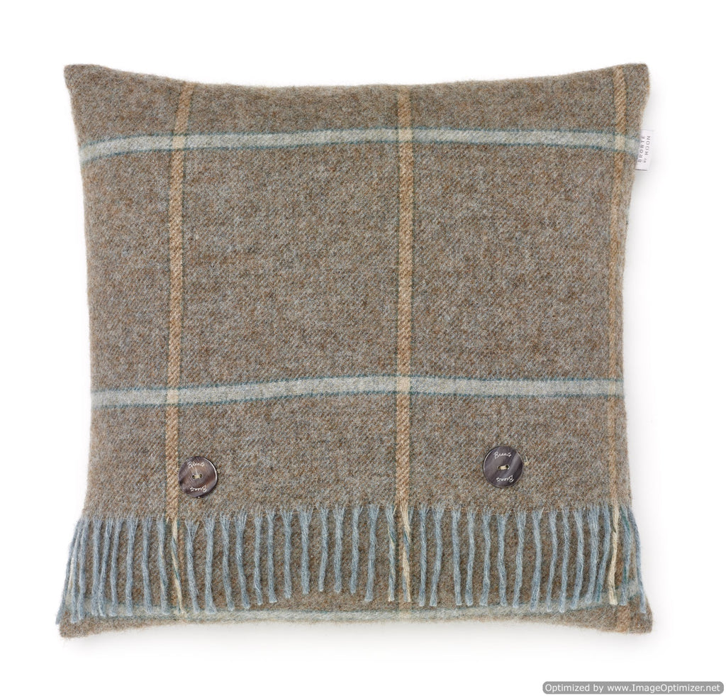 Shetland Quality - Pure New Wool - Pillow - Kingham - Eau de Nil