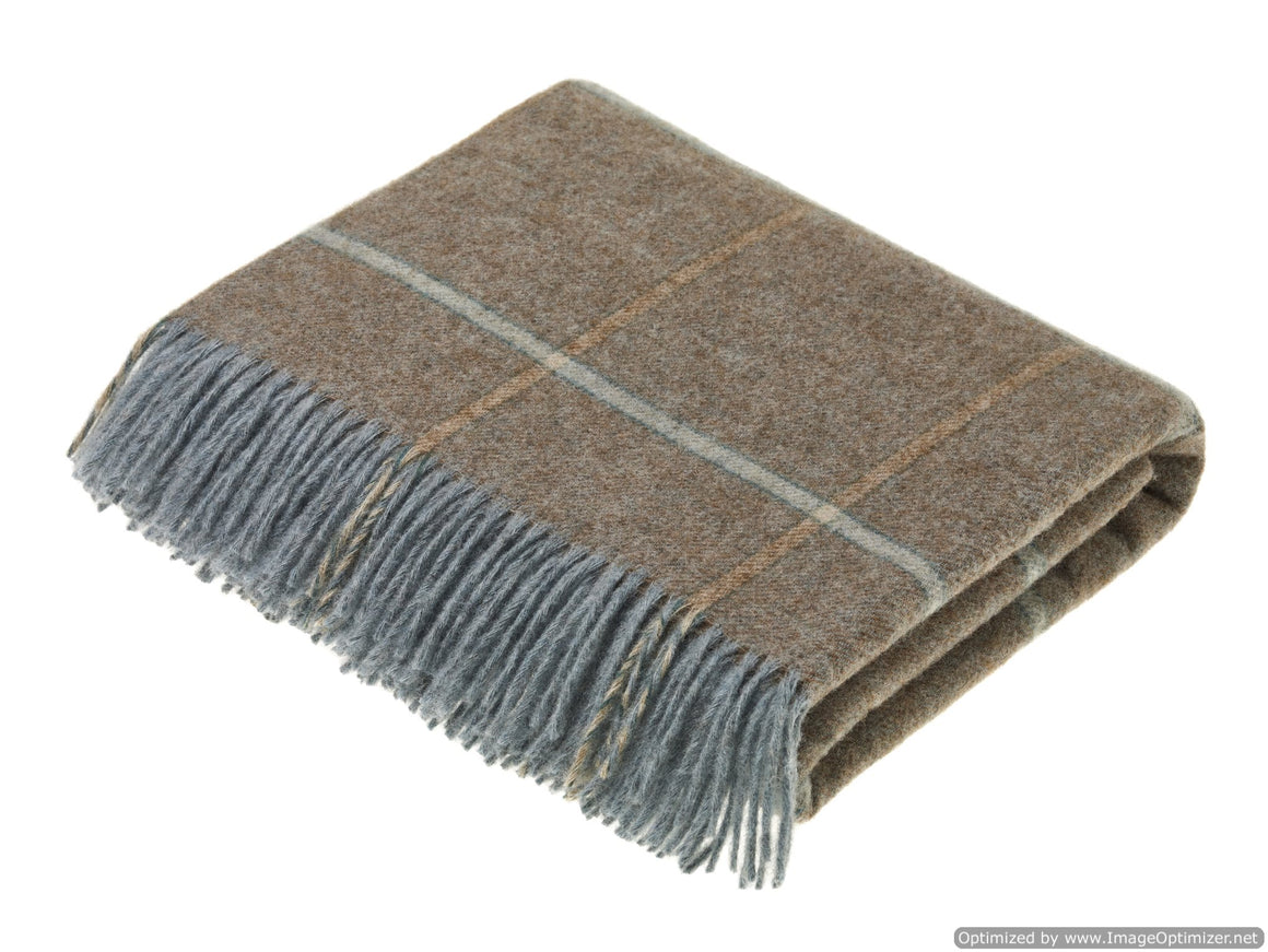 Shetland Quality - Pure New Wool - Throw - Kingham - Eau de Nil