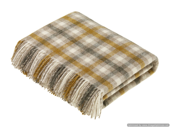 Shetland Quality - Pure New Wool - Bibury Natural - Throw Blanket