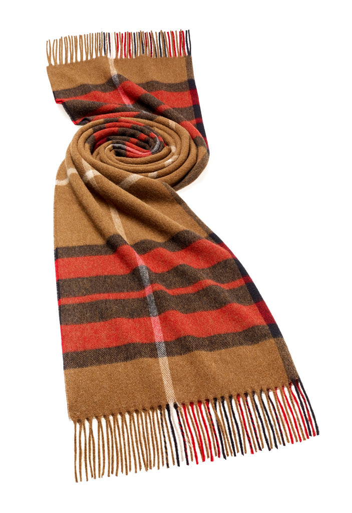 Blanket Scarf - Shawl - Stole - Wrap - Westminster Camel/Red Country Stole