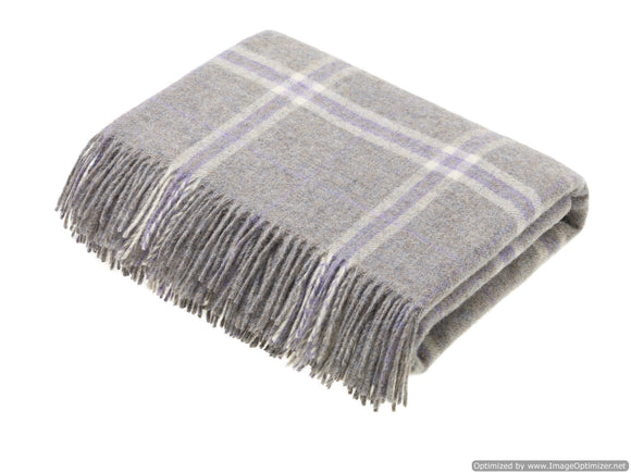 Transitional Marble Throw -  Windowpane - Shetland Quality Pure New Wool - Made in England