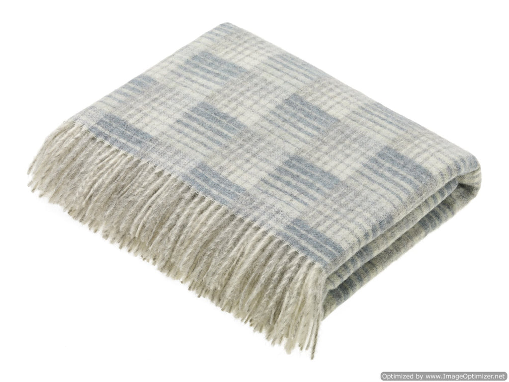 Transitional Slate Throw - Castle - Shetland Quality Wool - Made in England