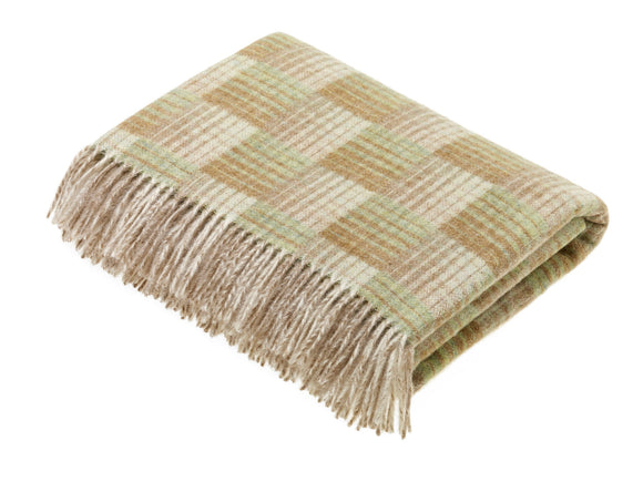 Transitional Travertine Throw - Castle - Shetland Quality Wool - Made in England