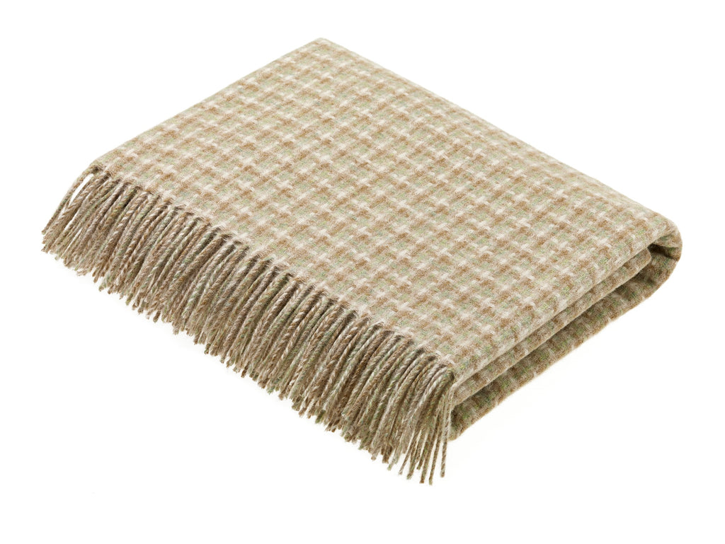 Transitional Travertine Throw - Villa - Shetland Quality Wool - Made in England