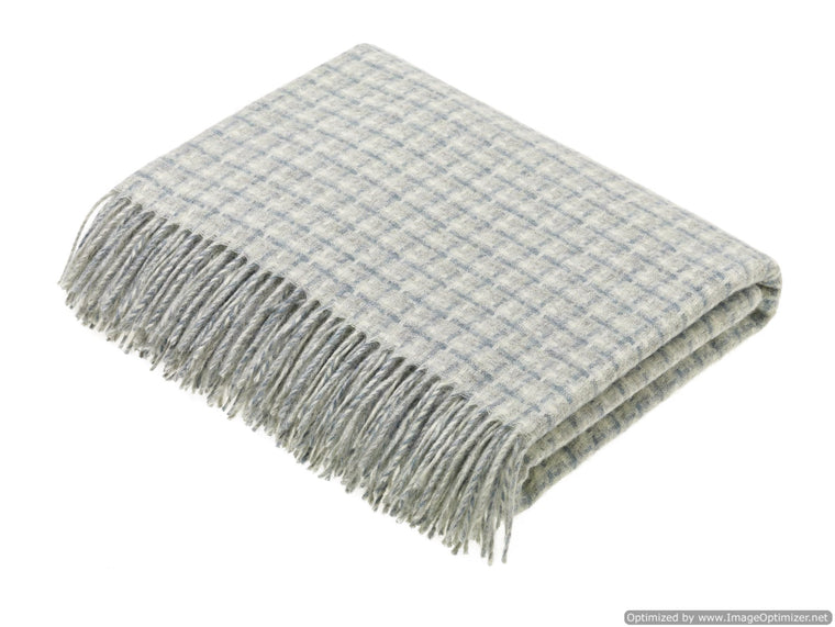 Transitional Slate Throw - Villa - Shetland Quality Pure New Wool - Made in England