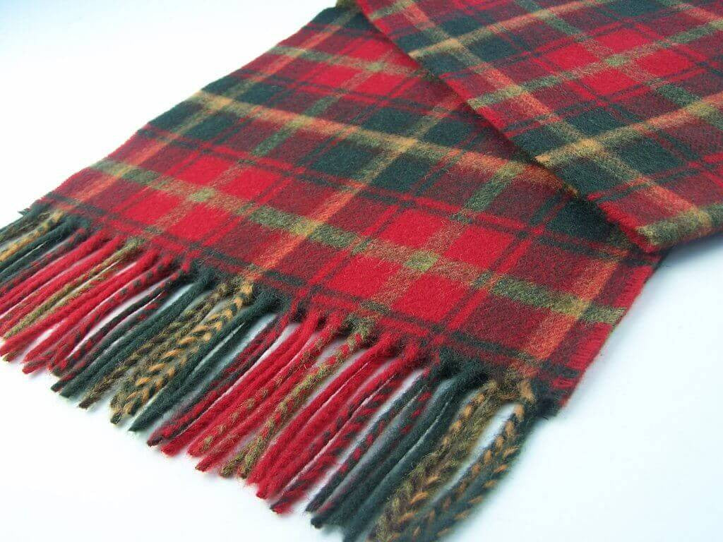 Tartan Dark Maple Scarf