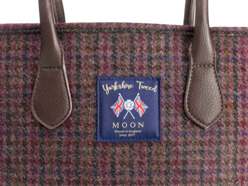 Burgundy Dogstooth Tote Bag - Bronte by Moon