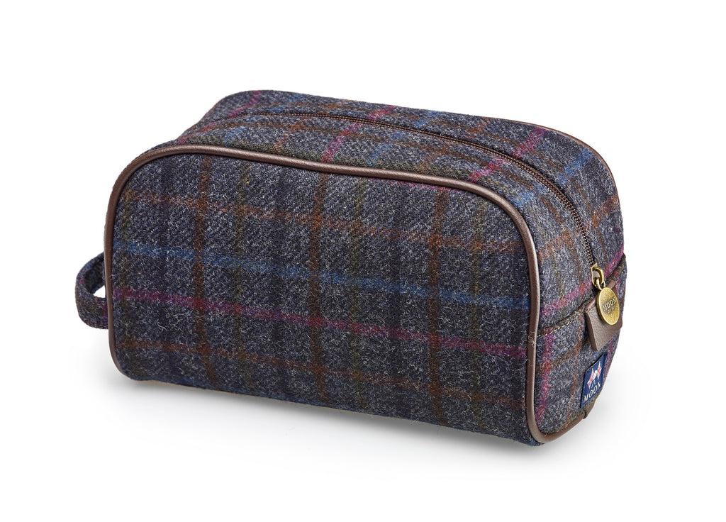 Wash Bag - Multicheck Navy - Bronte by Moon