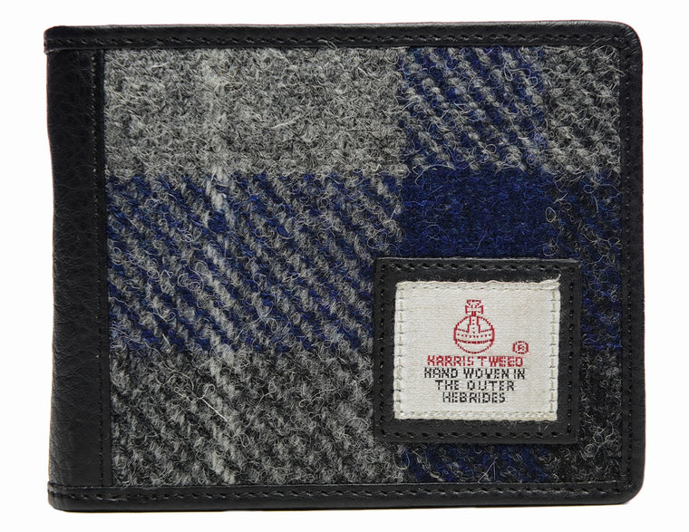 Harris Tweed - Bi-fold Wallet - Blue Check - Unisex
