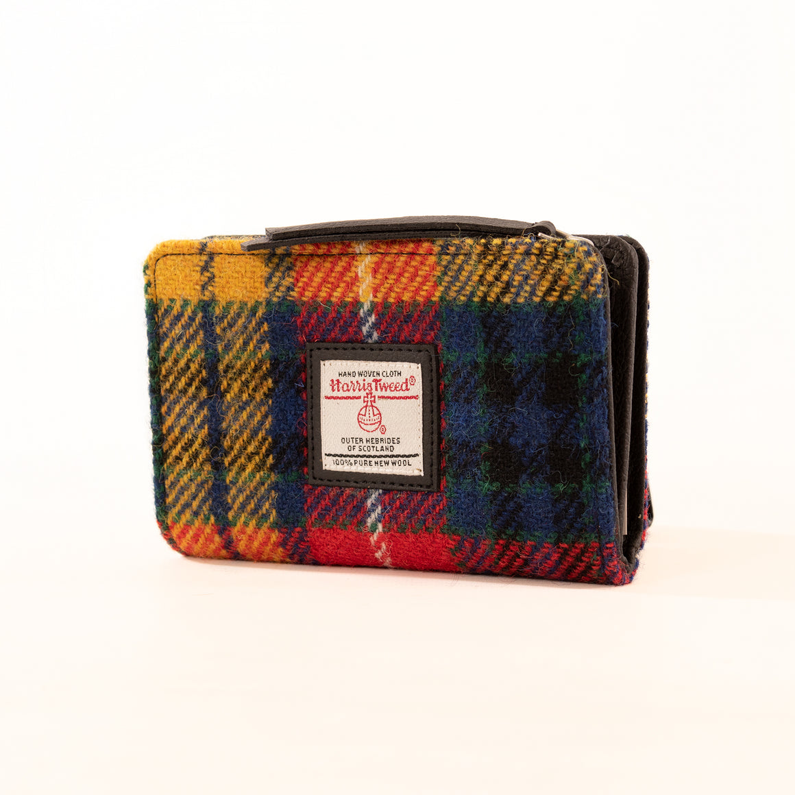 Harris Tweed - Zip Purse - Saffron