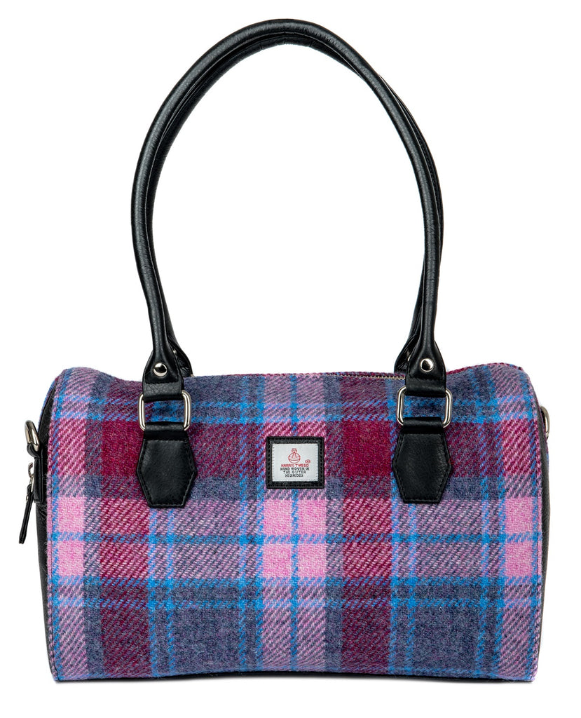 Harris Tweed - Handbag - Bowling Bag - Pastel Pink